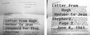 hefner to shep letter